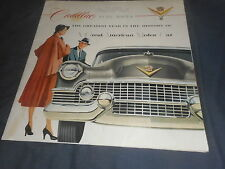 1954 Cadillac Fleetwood DeVille Series 62 Large Color Brochure Prospekt