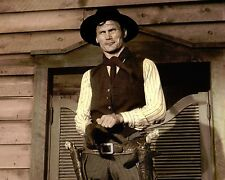 """JACK PALANCE SHANE 1953 HOLLYWOOD ACTOR 8x10"""" HAND COLOR TINTED PHOTO"""