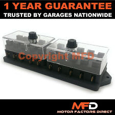 CAR MOTORCYCLE QUAD BIKE FITS 99% CARS 10 WAY UNIVERSAL STANDARD 12V FUSE BOX