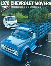 Chevrolet Conventional & Tilt series Movers trucks 1970 USA sales brochure