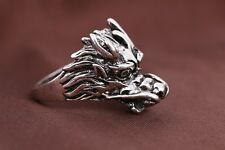 NEW for Men's 316l stainless steel Fashion Punk design dragon ring US size9 Q33