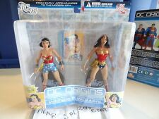 NEW DC Direct DC 75TH Origins WONDER WOMAN Double Action Figure Set Series 2