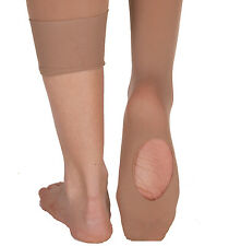 Body Wrappers C81 Girls' Size 4-7 (Small/Medium) Suntan Convertible Tights