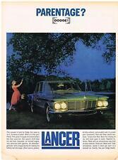 Vintage 1961 Magazine Ad Dodge Lancer Compact Car With Torsion-Aire Ride & Room