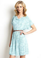 TART COLLECTIONS PIPPA DRESS With Belt NEW X-SMALL SOFA PALM(BLUE) MADE IN USA