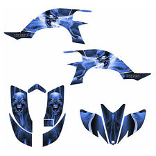 Yamaha YFZ 450 graphics kit 2003 2004 2005 2006 2007 2008  #6666 Blue Skull