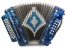 Rossetti 3112 GCF Sol 31 Button Diatonic Accordion - Blue + Case + Straps