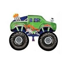 Amscan Green Monster Truck Shape Street Treats Foil Helium Official Licenced