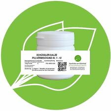 Schüssler Salz Pulvermischung (Nr.1-12) 150 g PZN 08001559