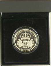 2010 RESTORATION OF THE MONARCHY £5 SILVER PROOF CROWN complete