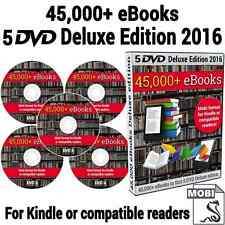 2016 eBook Collection Over 45,000 Titles on 5 DVDs + Kindle, PC & Mac Software