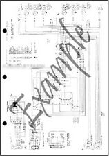 1989 Ford Escort Foldout Wiring Diagram Electrical Schematic Pony LX GT 89 OEM