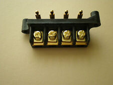 GOLD PLATED AMPLIFIER BARRIER TERMINAL BLOCK / PHOENIX REPLACEMENT AND OTHERS