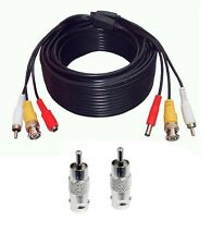 65 Feet Audio Video Power Security Camera Cable with BNC RCA Adaptor