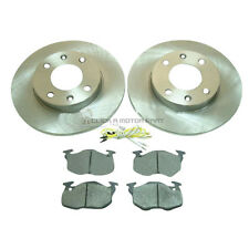 PEUGEOT 106 + 306 FRONT 2 BRAKE DISCS AND PADS 1.1 1.4 1.5D 4 STUD MDK0059