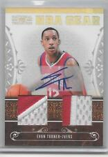 2010-11 Evan Turner National Treasures #6 NBA GEAR PATCH AUTO RC #D 21/49 (F14)