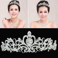 Bridal Princess Crystal Hair Tiara Wedding Crown Veil rhinestone Headband CH