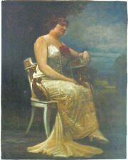 Gemälde Portrait einer Dame -B15