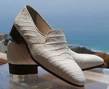 MAURI MEN'S ITALIAN White ALLIGATOR SLIP ON in Size 7  for Serena D'Italia