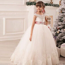Organza Flower Girl Dresses for Wedding Princess Pageant Party Birthday Prom G