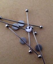 Jack Skellington Nightmare Industrial Scaffold Piercing Bar Steel Earring