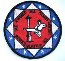 TAE KWON DO EMBROIDERED SEW ON PATCH ROWES USA FAMILY CENTER MARTIAL ARTS
