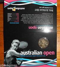 """2012 $1 Australian Open Tennis """" Official Australian open Women's  $1 Coin """""""