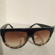 Celine Shadow FLAT Top SHIELD Tortoise SUNGLASSES Celeb KIM