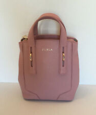 Furla Perla Leather Winter Rose Mini Messenger/Crossbody Purse Small Tote $298