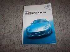 2011 Mazda MX-5 Miata Owner's Owner User Manual Touring Sport Special Edition