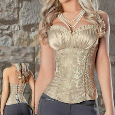 Sexy Boned Overbust Waist Trainer Lace Up Bustier Top Corset Shapewear Shaper XZ