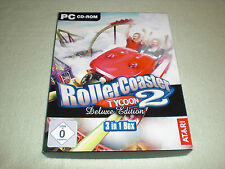 Atari PC CD-ROM - Roller Coaster Tycoon 2 - Deluxe Edition - 3 in 1 Box