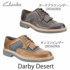 NEW CLARK  MENS ** DARBY DESERT ** DARK BROWN ** FORMAL SHOE ** UK 9.5