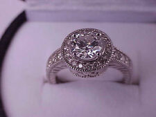 $14,879  Art Deco 14k WG VS/H 1.57cttw  Diamond Ring  with Appraisal Certificate