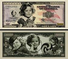SHIRLEY TEMPLE BILLET MILLION DOLLAR US! Colection Actrice Hollywood Enfant star