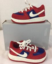 NEW NIKE Air Force 1 PRM Toddler Running Shoes Size: 6C Red/Blue
