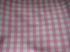 LAURA ASHLEY GINGHAM PINK/WHITE CHECK FABRIC MATERIAL (PER METRE)