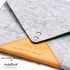 Natur ® Funda Para Portátil Fieltro de color gris claro caso para Apple MacBook Air 11 pulgadas