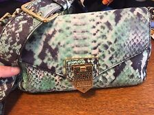 AIMEE KESTENBERG PURSE/SOFT LEATHER/S-M/COLORS LIKE SNAKE/GOLD TONE METAL/GREAT