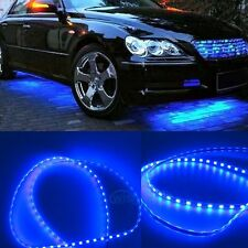 A Set Bright Blue Car Body Glow Kit Neon LED Lighting Undercar Underbody Strips