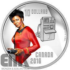 Kanada - 10 Dollar 2016 - Nyota Uhura - 50 Jahre Star Trek (3.) - 1/2 Oz. Silber