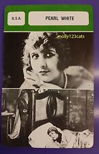 US Stage & Silent Movie Actress Pearl White Streisand French Film Trade Card
