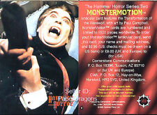 HAMMER HORROR Series 2 - RARE Unused MonsterMotion Chase Card Order Form