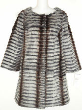 Trilogy Womens Snowtop Grey BUTTON DOWN DRESS Coat XS Retail $625