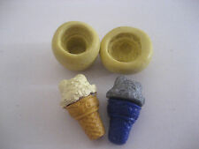 Tiny ice cream cone 20mm flexible silicone mold for fondant chocolate clay