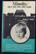 Minolta SRT-102 SRT-101 SRT-100 Hard Cover Film Camera Guide Book Manual 1974