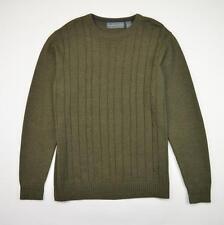 Oscar De La Renta Cable Knit Crewneck Sweater Green Men's Size L