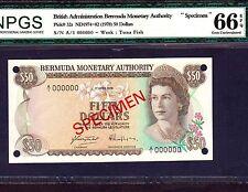 Bermuda, 50 Dollars 1978, P-32s * Specimen * Gem Unc 66 EPQ