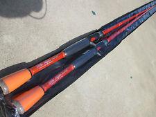 "Lot of 2   7' Carrot Stix Wild Alpha Orange Stick Fishing Rod CWA701MH-F-C 7'0"""