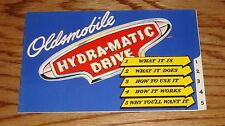 Original 1946 Oldsmobile Hydra-Matic Drive Sales Brochure 46